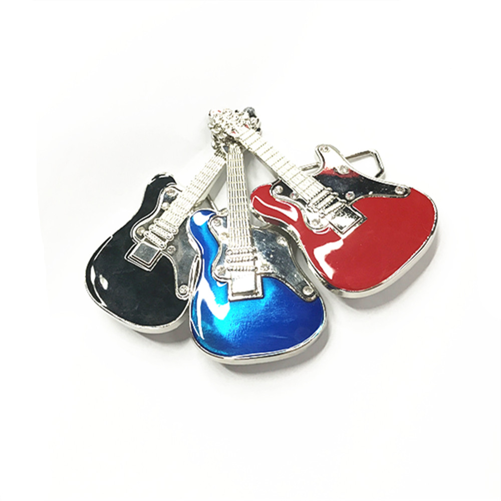 2017 The Most Popular Zinc Alloy Cowboy Guitar Music Belt Buckle For 4.0 Belt