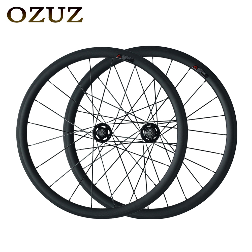 OZUZ Flip Flop Fixed Gear Bike Wheel 38mm Clincher Tubular Track Wheelset 3K Matte/3K Glossy Carbon Wheels Mac Aero 474 Cnspoke track carbon wheelset 88mm clincher bike wheels track single speed cycling wheels flip flop fixed gear novatec hubs 700c