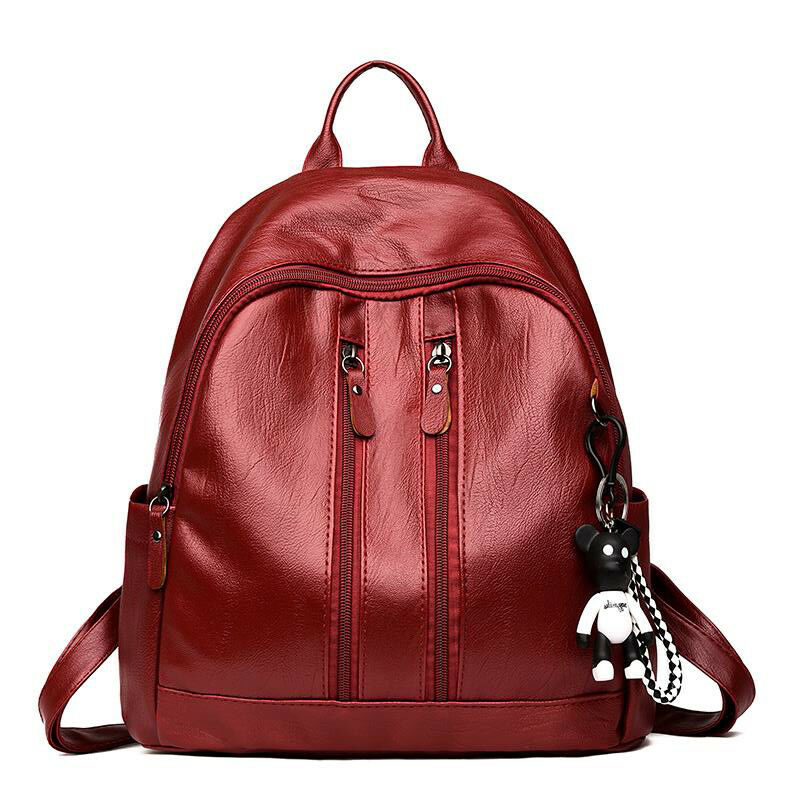 New Fashion Women's Backpack PU Leather Simple Student School Bag Mini Travel Shoulder Bag