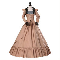 Medieval Gothic Renaissance Dress Princess Victorian Gothic Party Dress Cosplay Costume 18th Century Dress