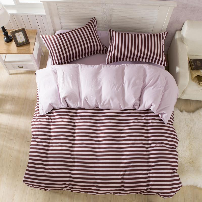 buy adult bedding set brief style stripe duvet cover set bed linen bedclothes 3or 4pcsset bed cotton set quilt cover bedspread muji from