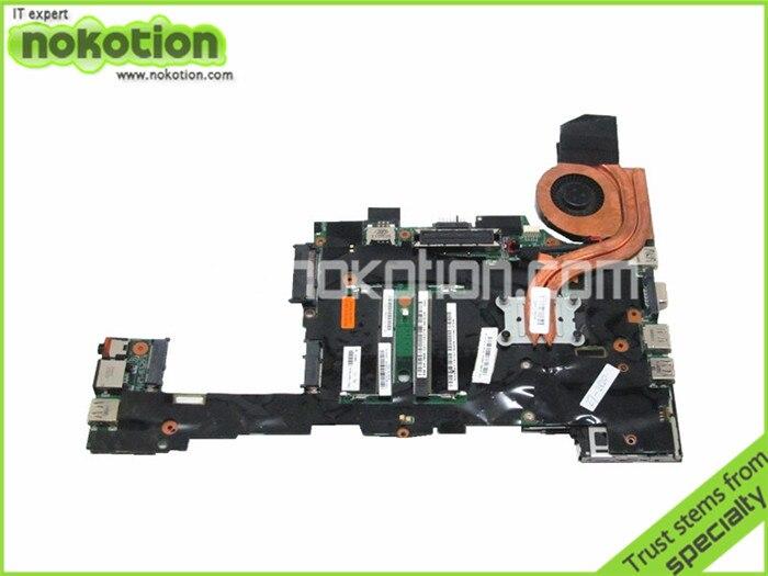 NOKOTION Laptop Motherboard for Lenovo Thinkpad X220 04Y1810 i7-2620M QM67 GMA HD3000 DDR3 Mainboard nokotion 04y1842 04w0696 laptop motherboard for lenovo thinkpad x220 x220i sr04s i3 2310m cpu qm67 main board full work