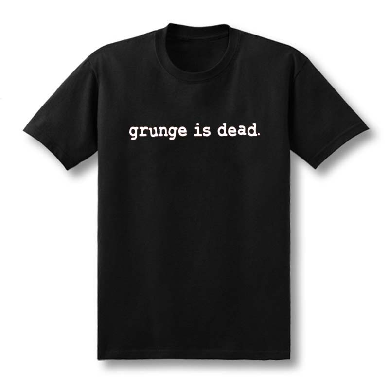 2019 New Summer Grunge is Dead kurt cobain nirvana 90s rock Funny   T     Shirt   Men Funny Cotton Short Sleeve   T  -  shirt   Tshirt camiseta