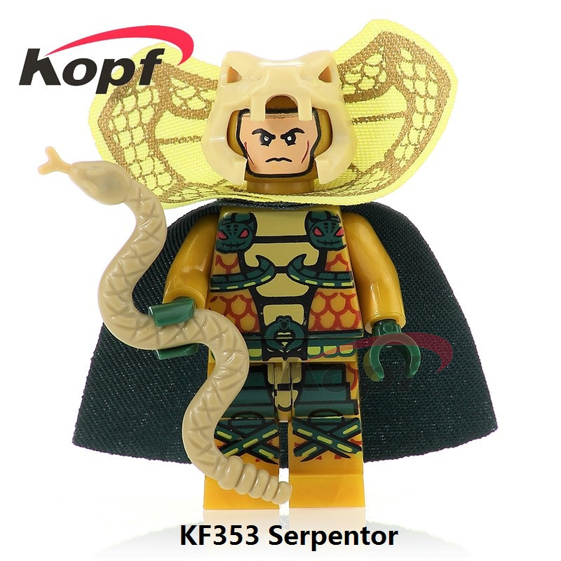 Single Sale KF353 Super Heroes Gi Joe Series Serpentor Snow Job Matt with Junkyard Dog Bricks Building Blocks Children Gift Toys blackman malorie snow dog
