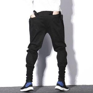 Image 3 - Мужские спортивные брюки, черные повседневные облегающие штаны шаровары в стиле хип хоп, весна 2020