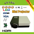 New full hd 3D GM50 1920*1080 Mini Protable LED Beamer Projector proyector home Theater Projector for HDMI VGA AV