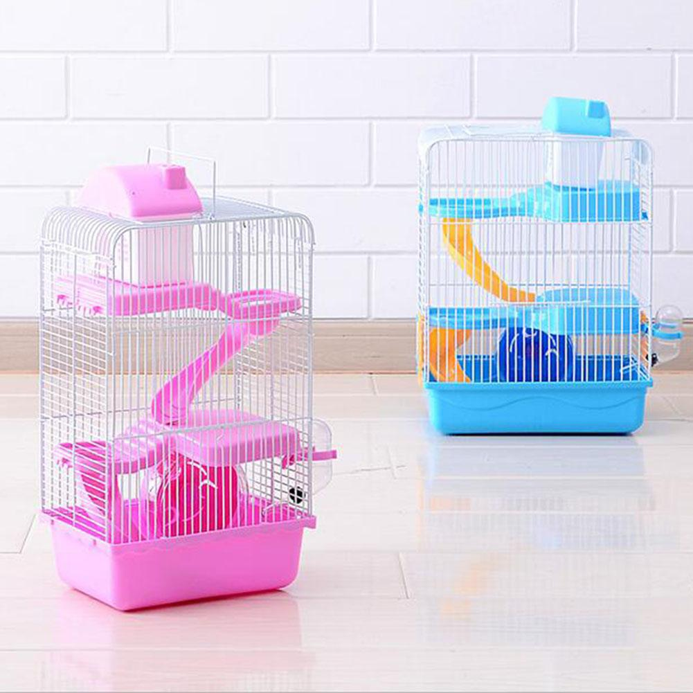 Pet Hamster Cage Luxury House Portable Mice Home Habitat Decoration
