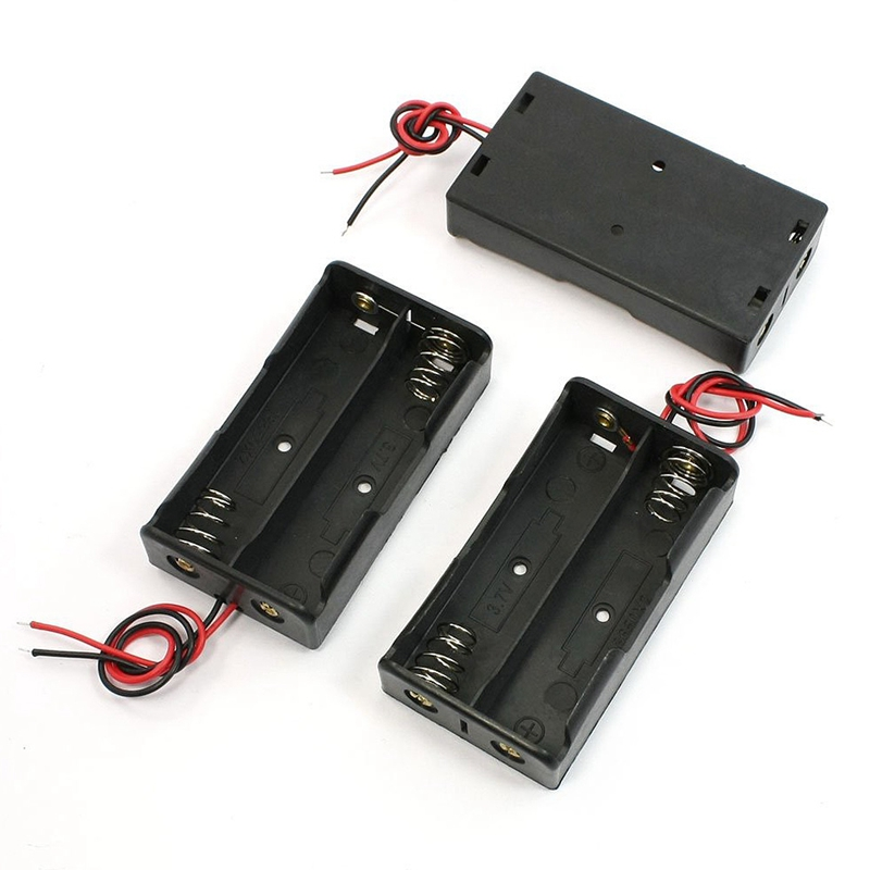 Hot!! 3 Pieces Black Battery Storage Box Holder for 3.7V18650 Batteries