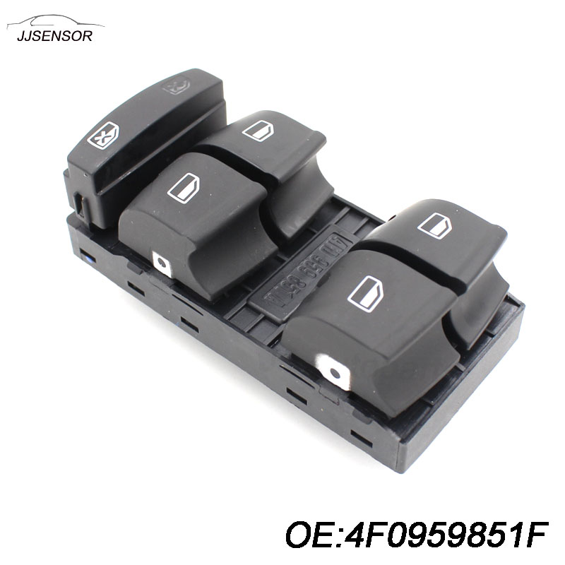 Driver Side Master Window Control Switch Button 4F0 959 851 f 4F0959851 4F0959851f 4F0 959 851f For 2006-2007 For Audi A6 C6