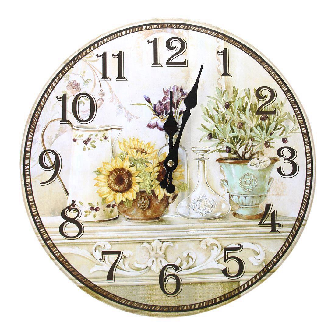 Vintage Antique Style 34cm Wall Clock Home Bedroom Retro Kitchen ...