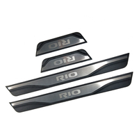 New stainless steel door sill Scuff Plate Welcome Pedal For KIA RIO X line 2019 2018 2017 Car Styling Accessories 4pcs