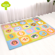 Бренд Коврики для детей 20 штук Мягкие пазлы коврики для детей детские коврики для игр пены EVA ковры 1,4 см Толщина маленьких детский коврик