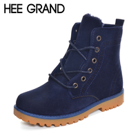 HEE GRAND New Arrival Winter Snow Boots Couple Shoes Brogues Boots Woman And Man Fashion Shoes