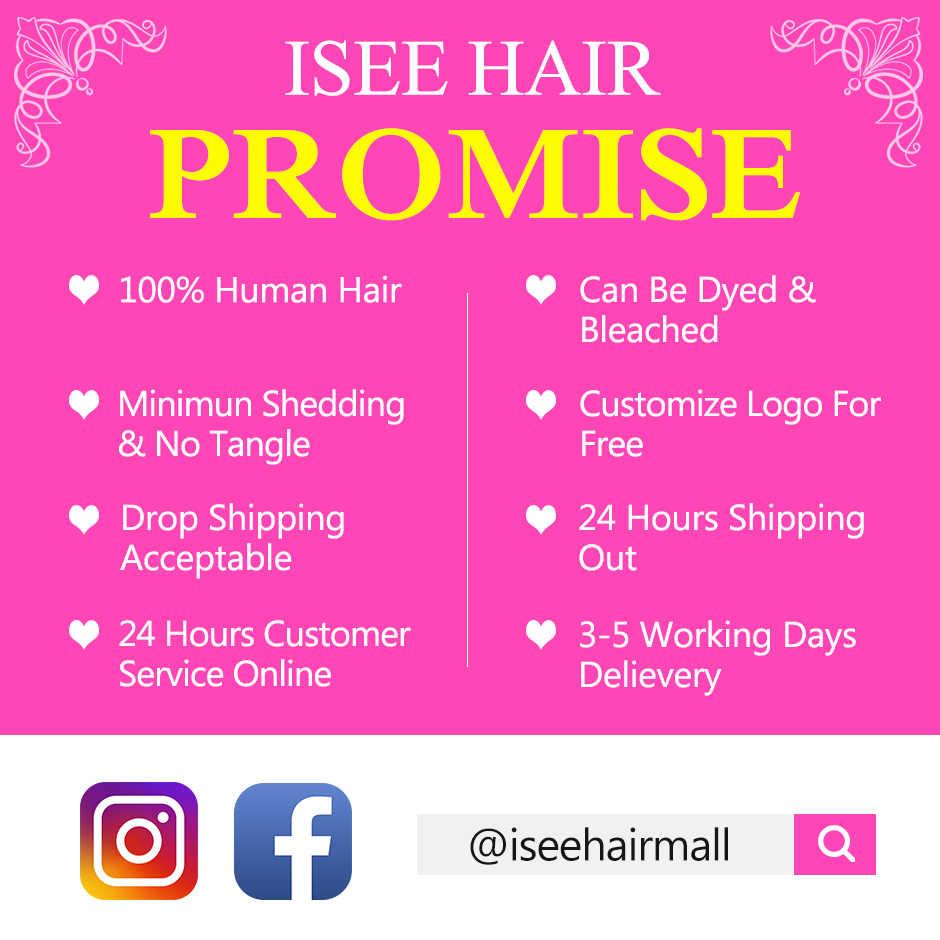 ISEE HAIR 3 paquetes de onda suelta con parte libre de cierre Remy paquetes de cabello humano con cierre cabello malayo con cierre