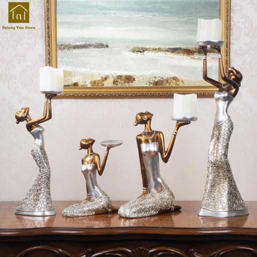 Home & Garden Home Decor Vintage Retro Candle Holders Iron Candlestick Glass Table Candelabra Wedding Decoration Lantern Lamp Bougeoir Home Decor Lkl038