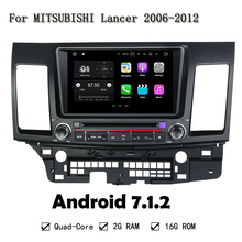 8″ Android 7.1.2 Car GPS Car DVD Player Head Unit For MITSUBISHI Lancer 2006-2012 Core 2GB RAM Auto Radio Multimedia NAVI 4G