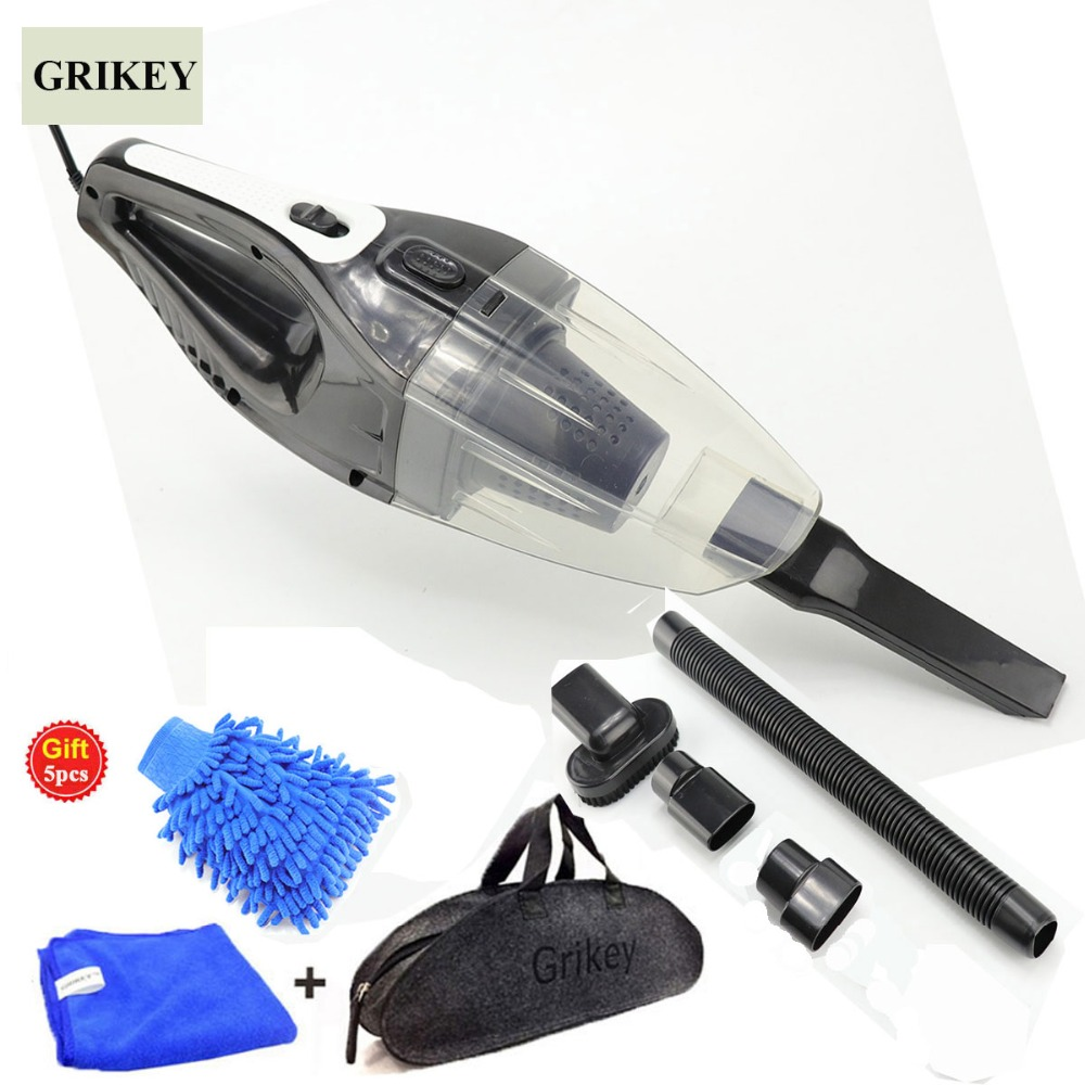 GRIKEY 12V Vacuum Cleaner For Car 120W Strong Power Dry Wet Aspirator Auto Vacuum Cleaner