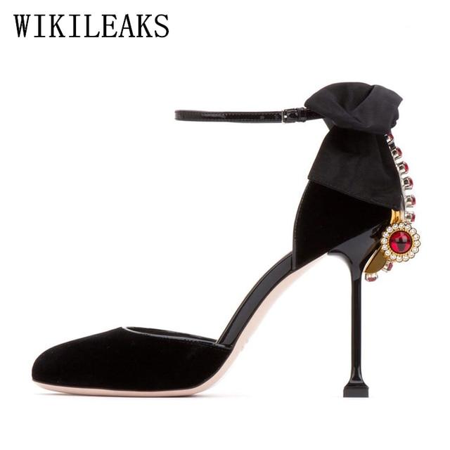 ab72407fbf2 US $37.21 49% OFF|designer shoes women luxury 2019 valentines crystal  wedding shoes woman pumps mary jane shoes fetish high heels pink black  heels-in ...