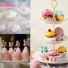 12 Pcs White Cloud Hollow Out Cake Paper Wrap Cupcake Wrapper Wedding Decor Birthday XMAS  Decoration Wholesales