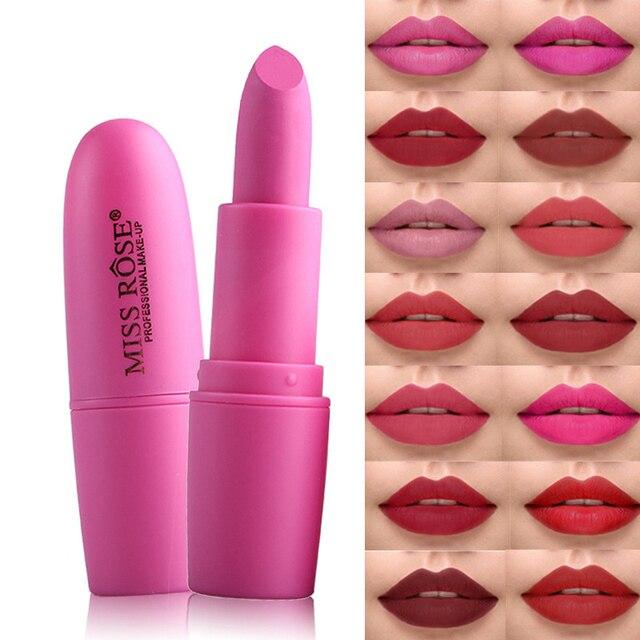 Señorita Rosa marca mate pintalabios mujer labio belleza maquillaje impermeable terciopelo lápiz labial Sexy desnudo rojo marrón pigmentos labios Color