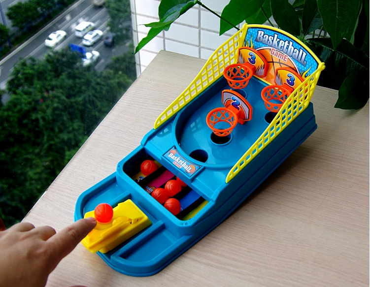 shooting machine+6 balls Desktop Ejection Basketball Contest Assembled Mini Shooting Game Finger Toys Birthday Gifts