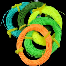 35Y WF 3/4/5/6/7/8F fly line floating 30.5m fishing yellow green color Variable diameter