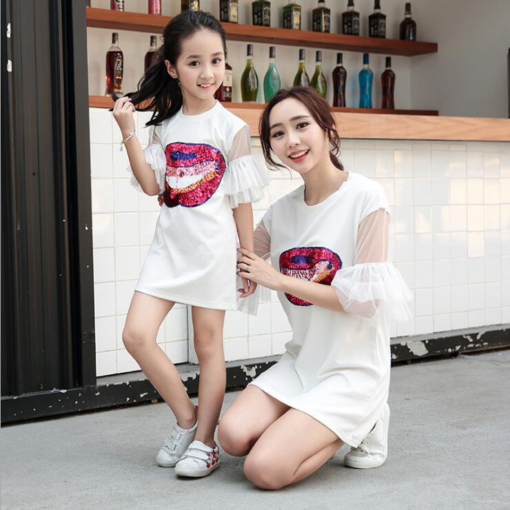 sequin mouth mother daughter dresses family look mommy and me clothes mom mama mum and daughter matching outfits dress clothessequin mouth mother daughter dresses family look mommy and me clothes mom mama mum and daughter matching outfits dress clothes