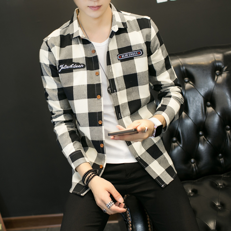 boy/'s boys shirt clothes plaid button down fall winter S 5 6  long sleeve top