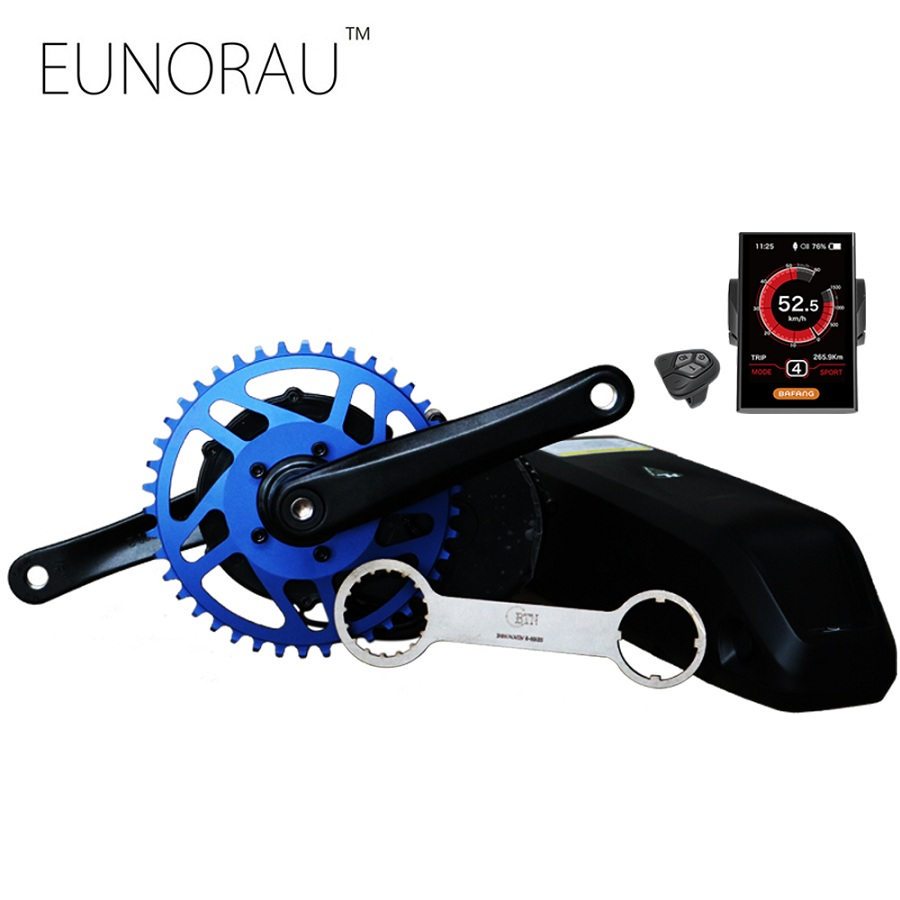все цены на free shipping 48V750W 8fun/bafang motor colourful LCD BBS02B latest controller crank Motor eletric bicycles trike ebike kits