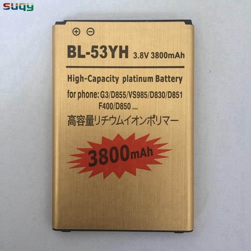 Batteria per LG G3 D855 BL-53YH per LG G3 suqy D858 D857 D850 D859 F400 F460 F470 F400L D830 D851 VS985 Telefono batteria