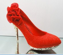 fashion wedding shoes flower decorate  high-heel lady pumps  shoes  formal dress shoes party shoes