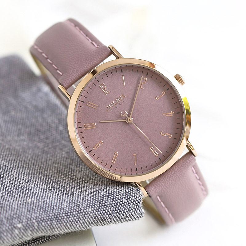 Julius Women's Watch Japan Quartz Lady Classic Hours Fashion Clock Dress Bracelet Leather Girl's Birthday Gift