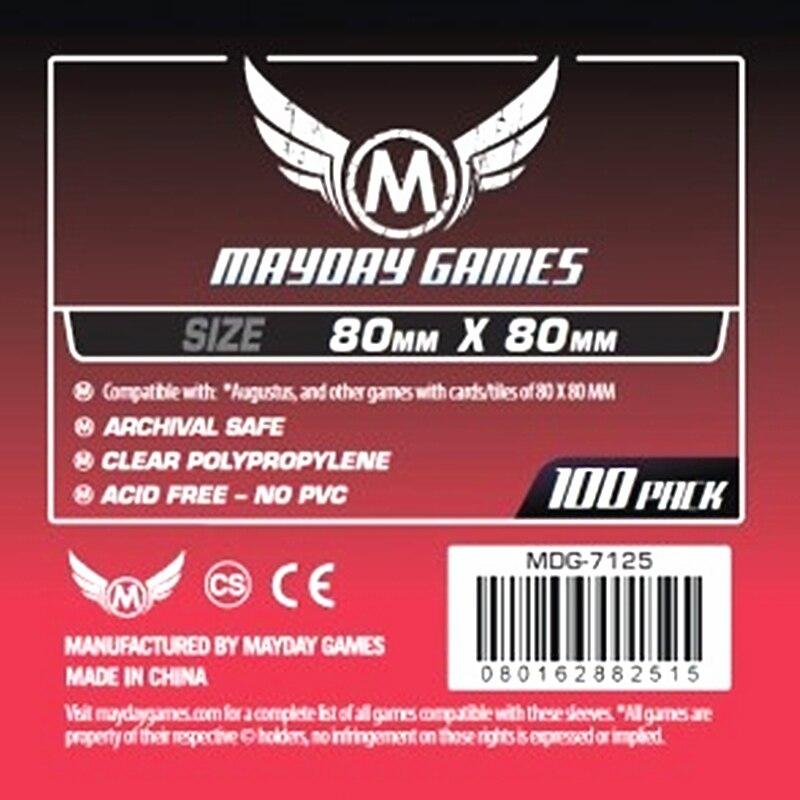 Klar Clear 500 Mayday Premium Card Game Sleeves 63.5 x 88-10 Packs
