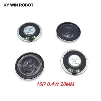 5 unids/lote nuevo Mini altavoz ultradelgado 16 Ohmios 0,4 vatios 0,4 W 16R diámetro del altavoz 28MM 2,8 CM espesor 5MM