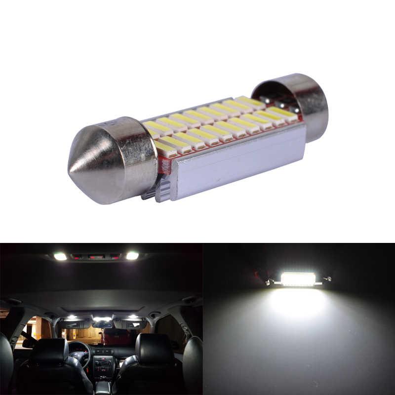 1X C10W C5W LED CANBUS Festoon 31 Mm 36 Mm 39 Mm 42 Mm untuk Mobil Bohlam Lampu Baca Interior license Plate Lampu Putih 5000K Gratis Error