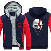Autumn Winter Warm Fleece God Of War thicken Hooded Gamers Geek Sweatershirt Kratos Graphic Hoodie Coat