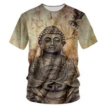 Vintage Style Buddha Statue 3d Print T-shirt Men/Women Summer Cool Short Sleeves Casual T Shirt Tops Boys Clothes Drop shipping water drop 3d print t shirt