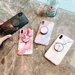 Роскошные мраморный кронштейн чехол для телефона для iPhone6s X xsmax 7 8 плюс XR все включено чехол soft shell