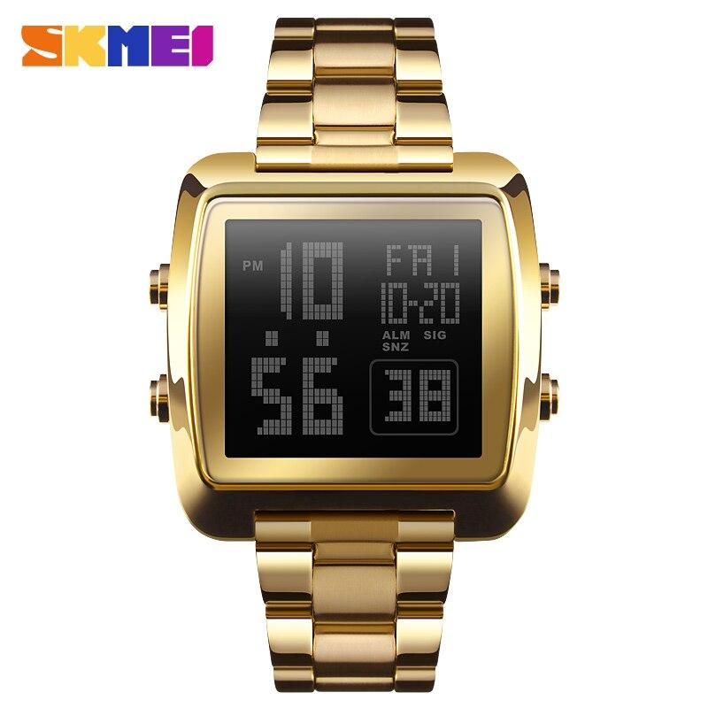SKMEI Casual Style Sports Men's Watch Full Steel Waterproof Electronic LED Digital Wrist watches Fashion Clock Male relogio цена и фото