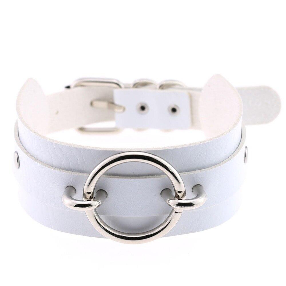 Gothic choker necklace punk leather collar necklace & pendant bondage statement necklace maxi jewelry goth gift wholesale