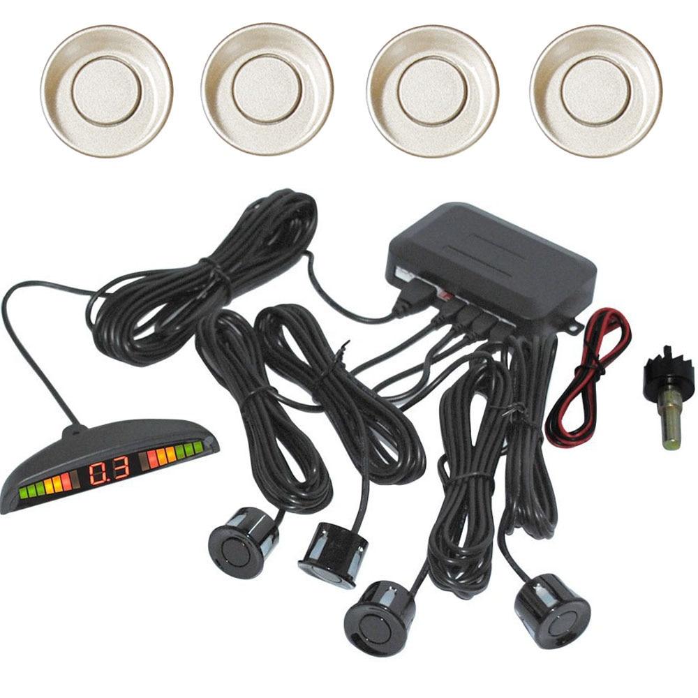 Набор автомобилей Светодиодный парковка Сенсор Мониторы комплект Дисплей 4 Датчики 9 видов цветов для всех автомобилей обратный резервный ...