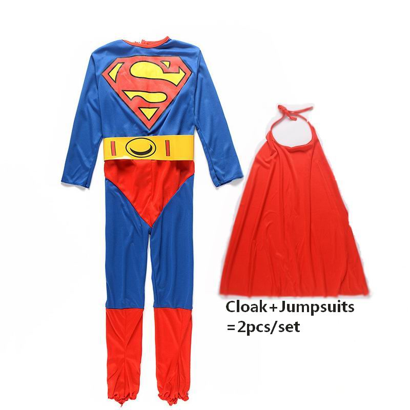 Superman Cosplay Costumes Halloween Christmas Costumes For Kids Children Fancy Dress Superhero Anime Boys Cosplay Superman Cloak