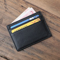 2016 Genuine Leather Men's Short credit card holder wallets Men id card Purses business Suit Wallet women card holder