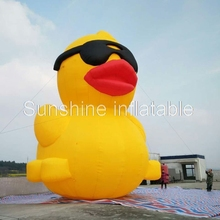 10m Outdoor Advertising Big Inflatable Yellow Duck Giant Inflatable Rubber  Duck Cartoon For Promotion From China