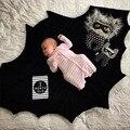 Новорожденных Детские Одеяла Супер Мягкий Хлопок 140 см Х 100 см черный Повседневная Спальная Кровать играть мат