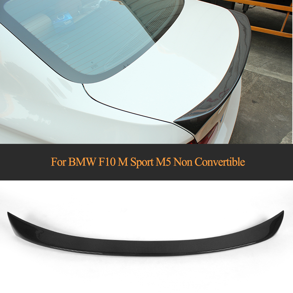 цена на 5 Series carbon fiber Rear Trunk Boot Lip Wing spoiler for BMW F10 M Sport M5 2012-2016 Non Convertible 525i 528i 535i 550i