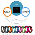 TW64 Fitness Tracker Bluetooth SmartBand Sport Bracelet Smart Band Wristband Pedometer for IPhone IOS Android PK Fit bit Mi Band