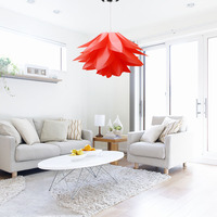 Modern Pendant Lights DIY Kit Lily Lotus Lamp IQ Puzzle LED Light Fixtures For Kitchen Ceiling