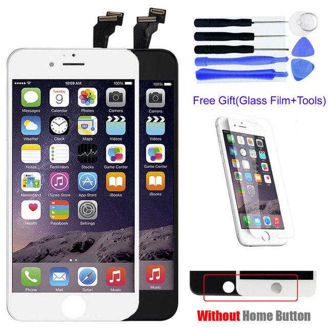 Aaa grau para iphone 6 tela lcd de 4.7 polegada + ferramentas + protetor de vidro temperado com tela de toque digitador assembléia original vidro