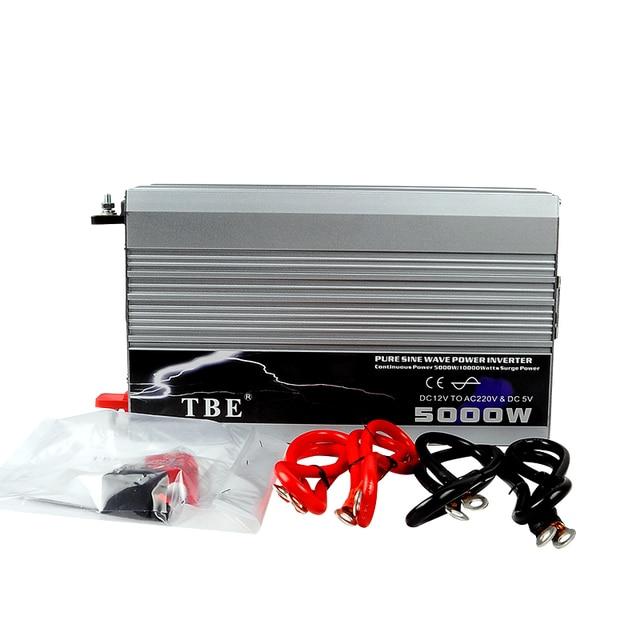 5000W DC 12V to AC 220V Car Pure Sine Wave Power Inverter Converter Car Charger(10000W Peak Power)